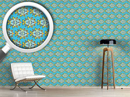Pattern Wallpaper Modern Aztec