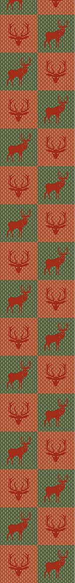 Pattern Wallpaper The Forest King Red Green