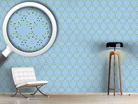 Pattern Wallpaper Forget Me Not Blue