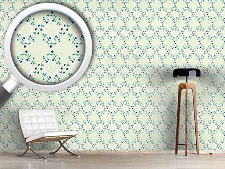 Pattern Wallpaper Forget-MeNnot Light