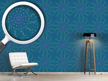 Pattern Wallpaper Dotted Flowers