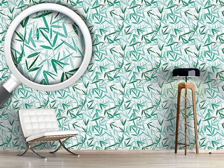 Pattern Wallpaper Bamboori Mint