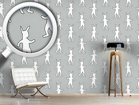 Pattern Wallpaper Rabbit Dance Softrock