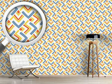 Pattern Wallpaper Boomerang Blue