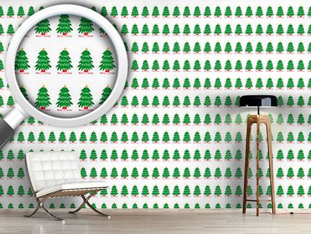 Pattern Wallpaper Christmas Tree Parade
