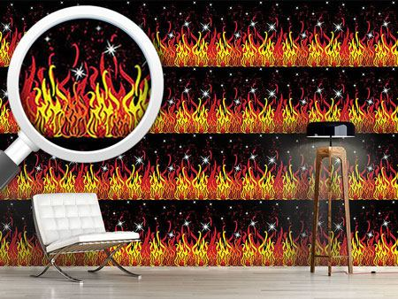 Pattern Wallpaper On Fire