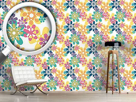 Pattern Wallpaper Glori Flori Color