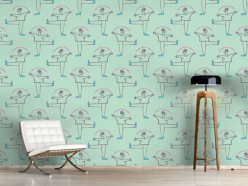Pattern Wallpaper Danza Verde