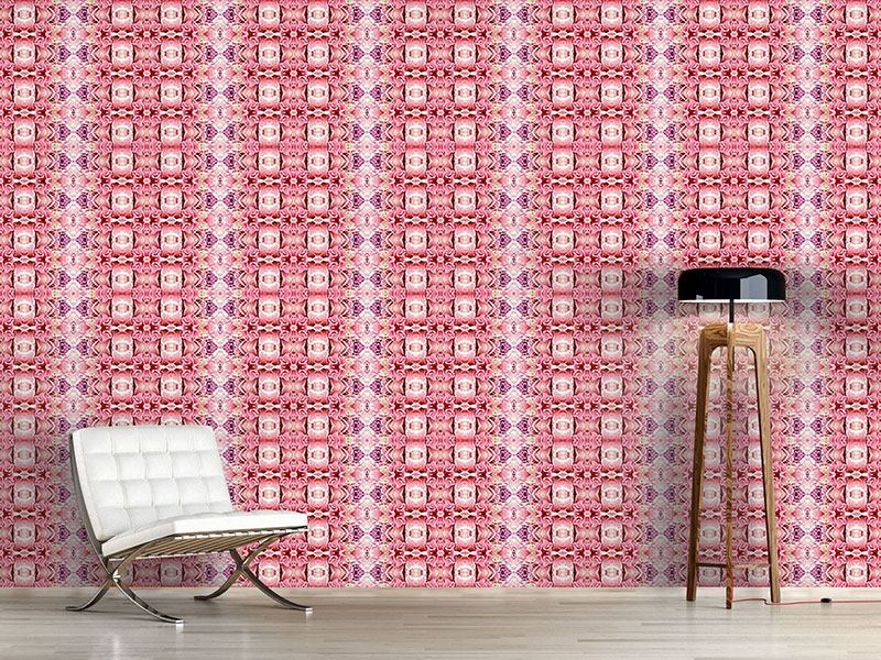 Pattern Wallpaper Temple Rose