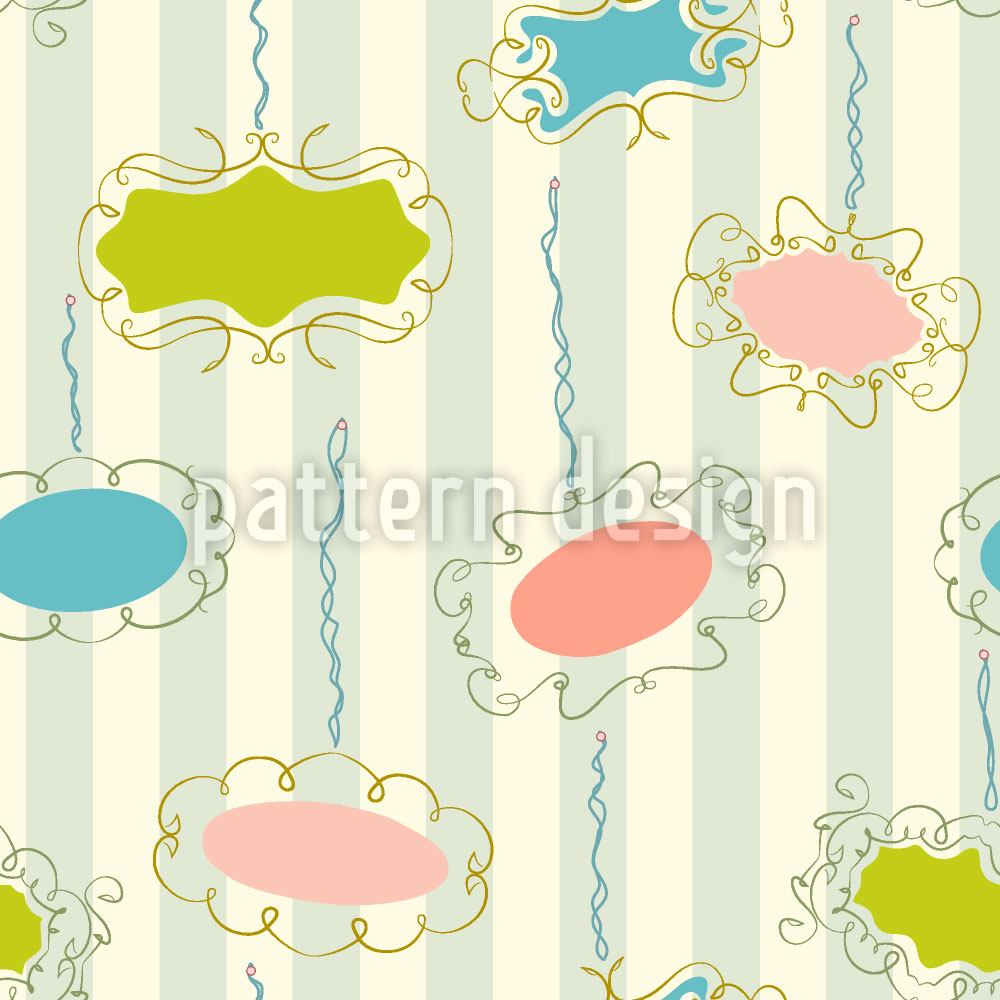 Pattern Wallpaper Frames On Stripes