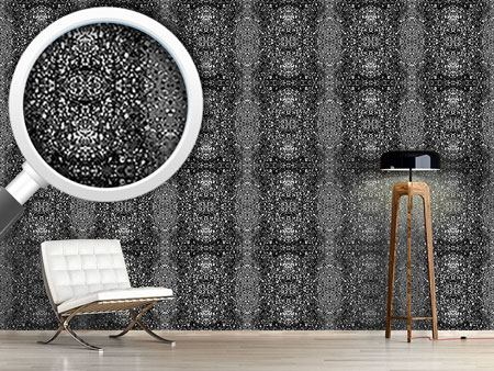 Pattern Wallpaper Stained Gray