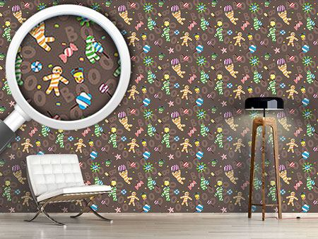 Pattern Wallpaper Mummy Boy