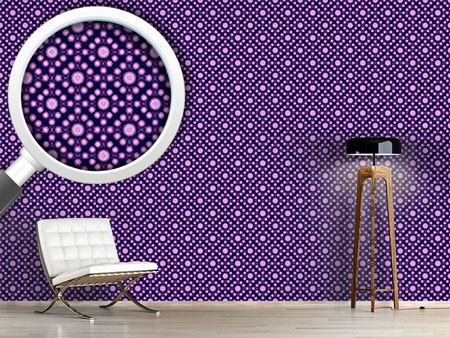 Pattern Wallpaper Violet Dots