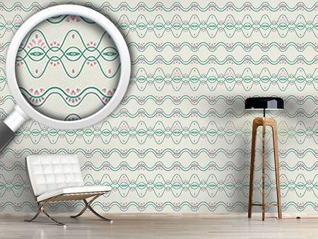 Pattern Wallpaper Folkloria Cream