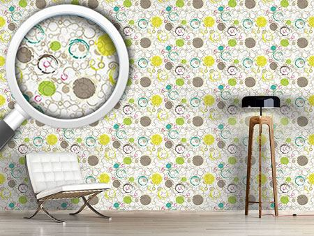 Pattern Wallpaper Spring Draw Circles