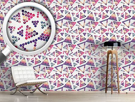 Pattern Wallpaper Crystals In Triangular Shape