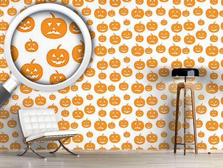 Pattern Wallpaper Halloween Pumpkins