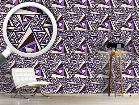 Pattern Wallpaper Triangle Rotation