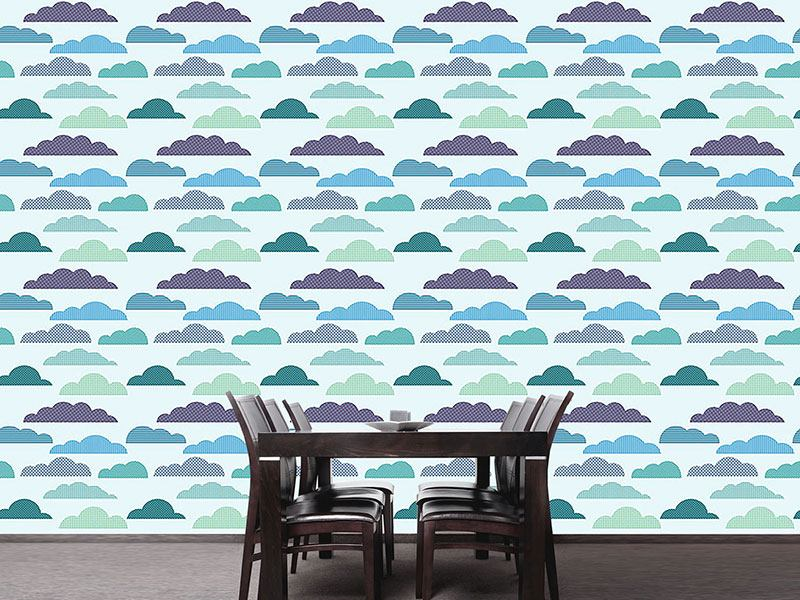 Pattern Wallpaper Cloudy Patchwork