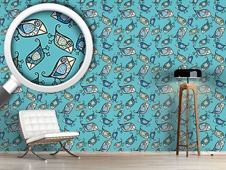 Pattern Wallpaper Little Birds Of Paradiese