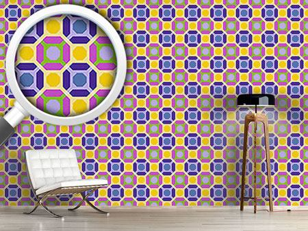 Pattern Wallpaper Octagon Connection