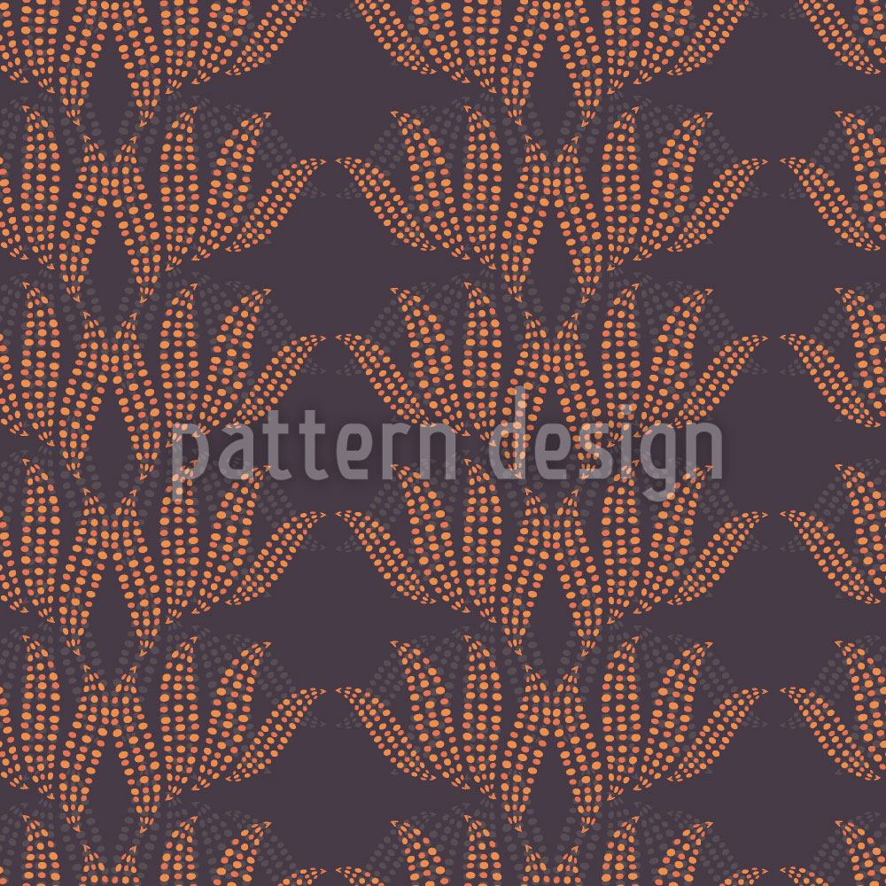 Pattern Wallpaper Dotty Leaves
