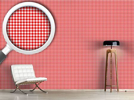Pattern Wallpaper Rustic Check