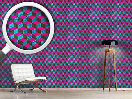 Pattern Wallpaper Cube Camouflage