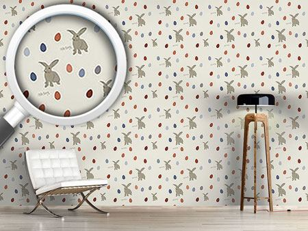 Pattern Wallpaper Happy Easterbunnies