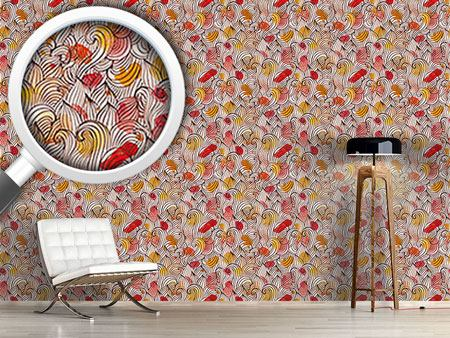 Pattern Wallpaper Watercolor Curls