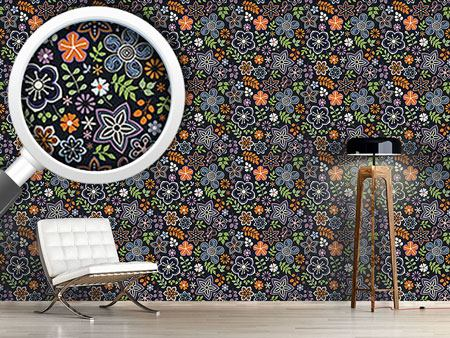 Pattern Wallpaper Russian Magic Flowers