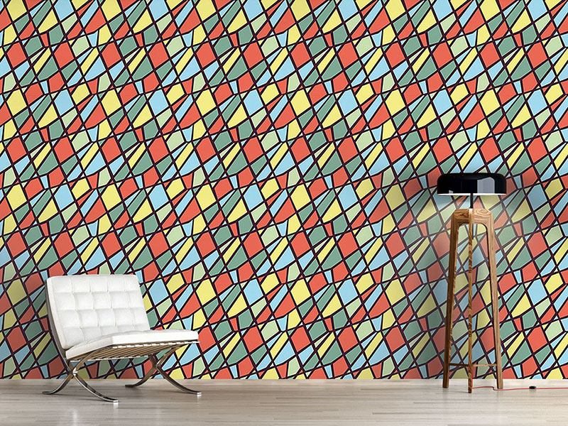 Pattern Wallpaper Clown Geometry