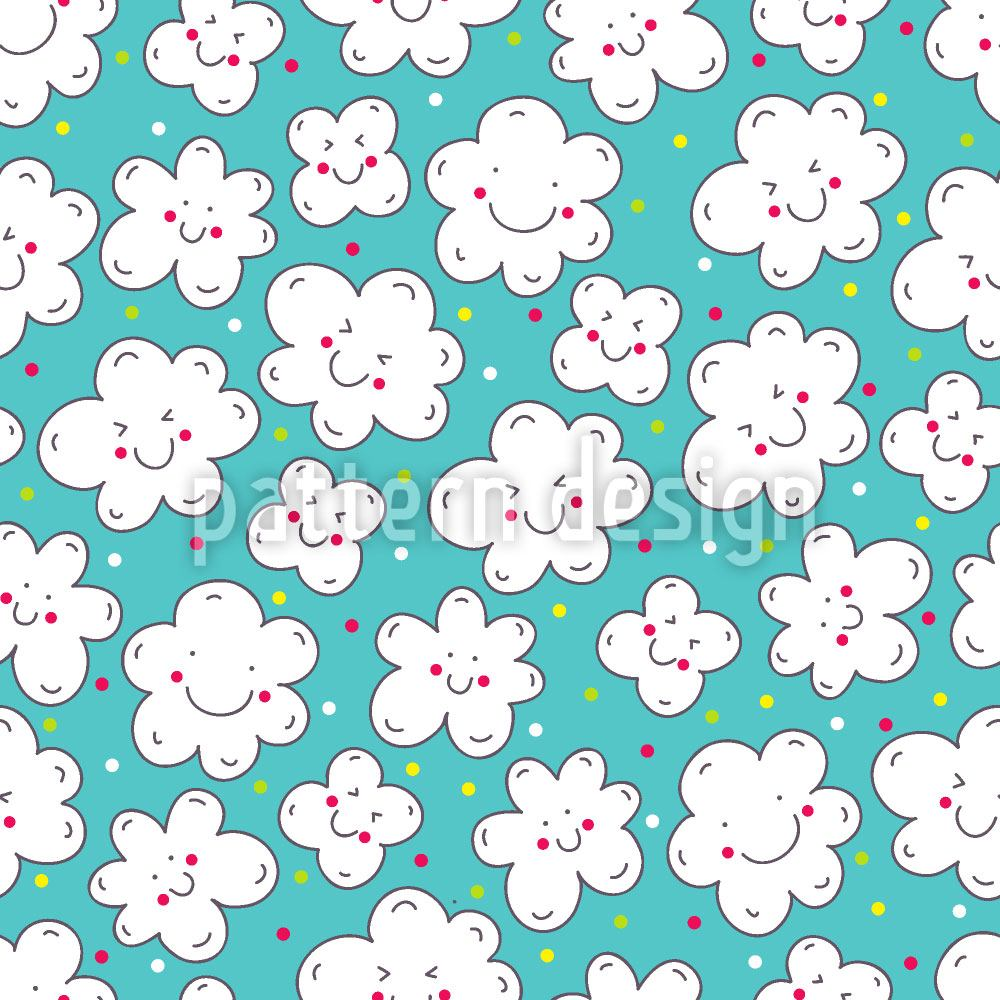 Pattern Wallpaper Clouds Smile