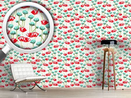 Pattern Wallpaper Poppy Potpourri