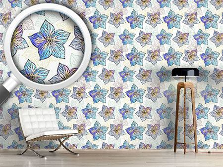 Pattern Wallpaper Watercolor Hibiscus