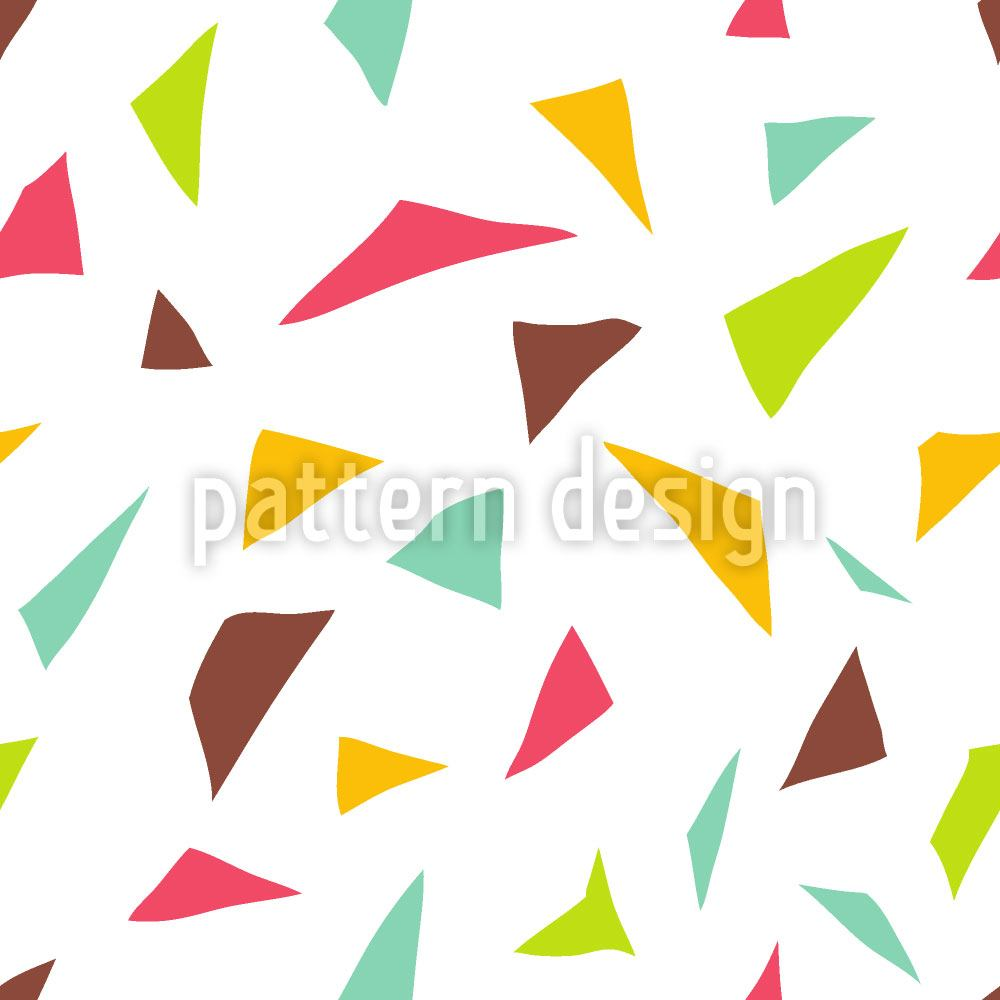 Pattern Wallpaper Triangular Confetti