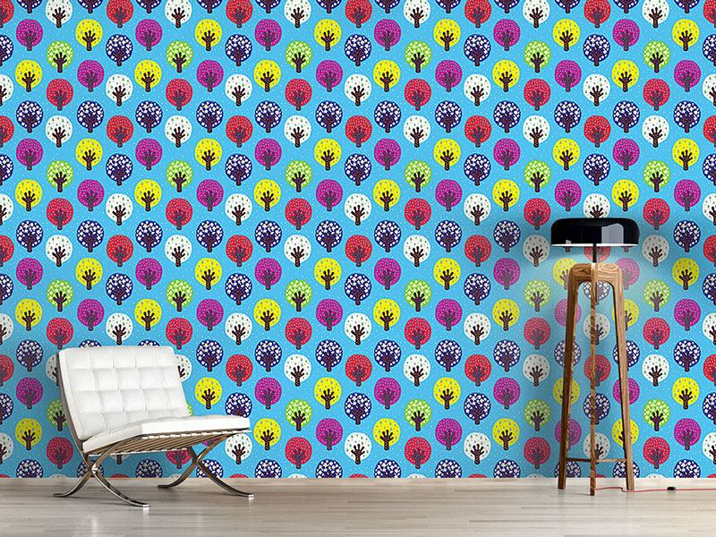 Pattern Wallpaper In The Patchwork Forest