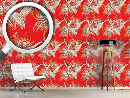 Pattern Wallpaper Fire Lily