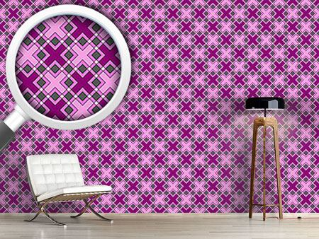 Pattern Wallpaper Crossing Squares