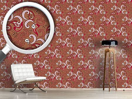 Pattern Wallpaper Rocking Orient Brown