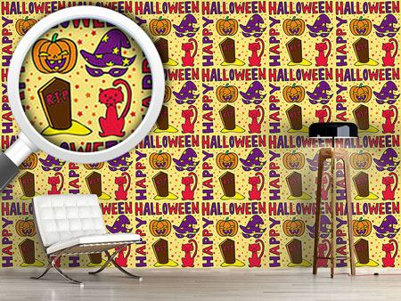 Pattern Wallpaper Halloween Greetings