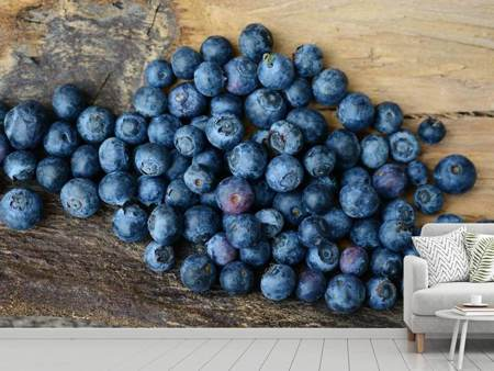 Fototapet Fresh blueberries