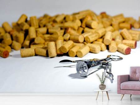 Fototapet Wine corks collection
