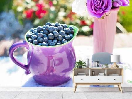 Fototapet Sweet blueberries