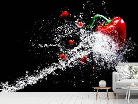 Fototapet Paprika Splash XL