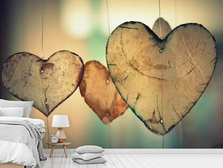 Photo Wallpaper Beautiful hearts