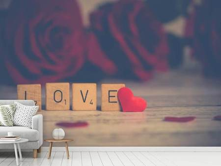 Photo Wallpaper Love in letters