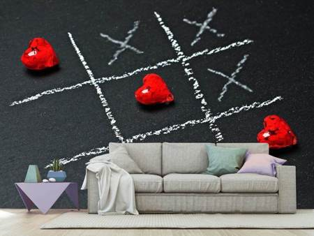 Photo Wallpaper Tic tac toe love