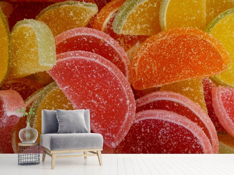 Photo Wallpaper Sugared fruit gums