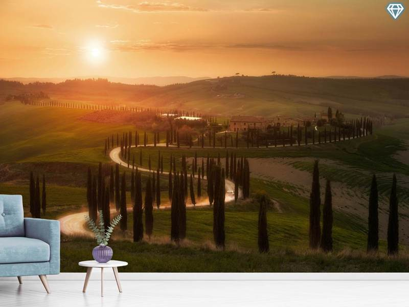 Photo Wallpaper Tuscany Evening